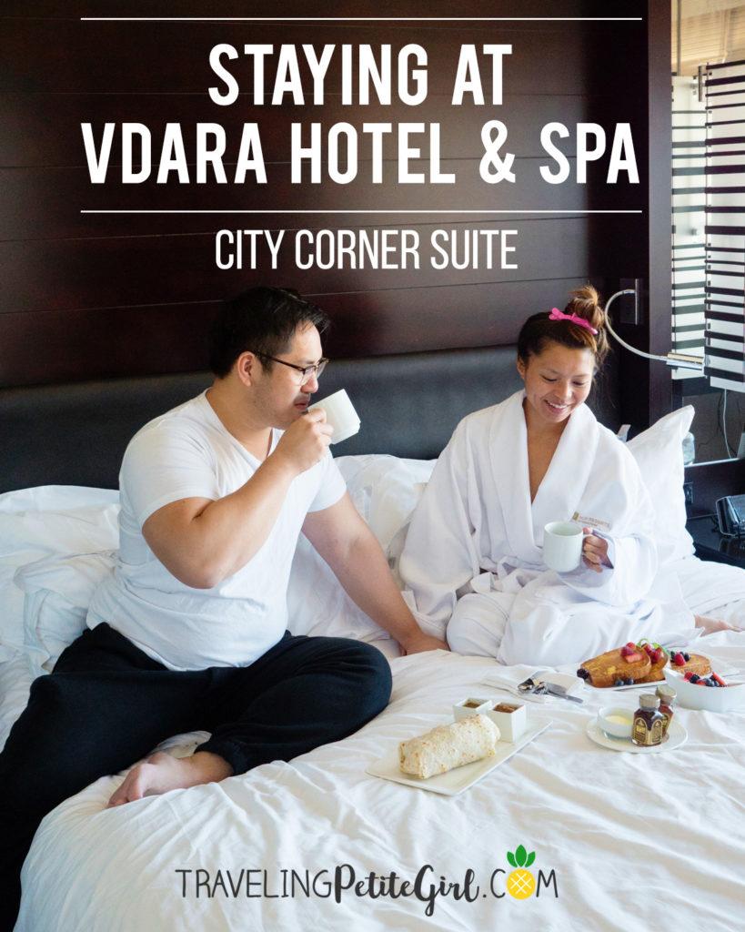 Vdara Hotel City Corner Suite Fountain View Pin www.travelingpetitegirl.com