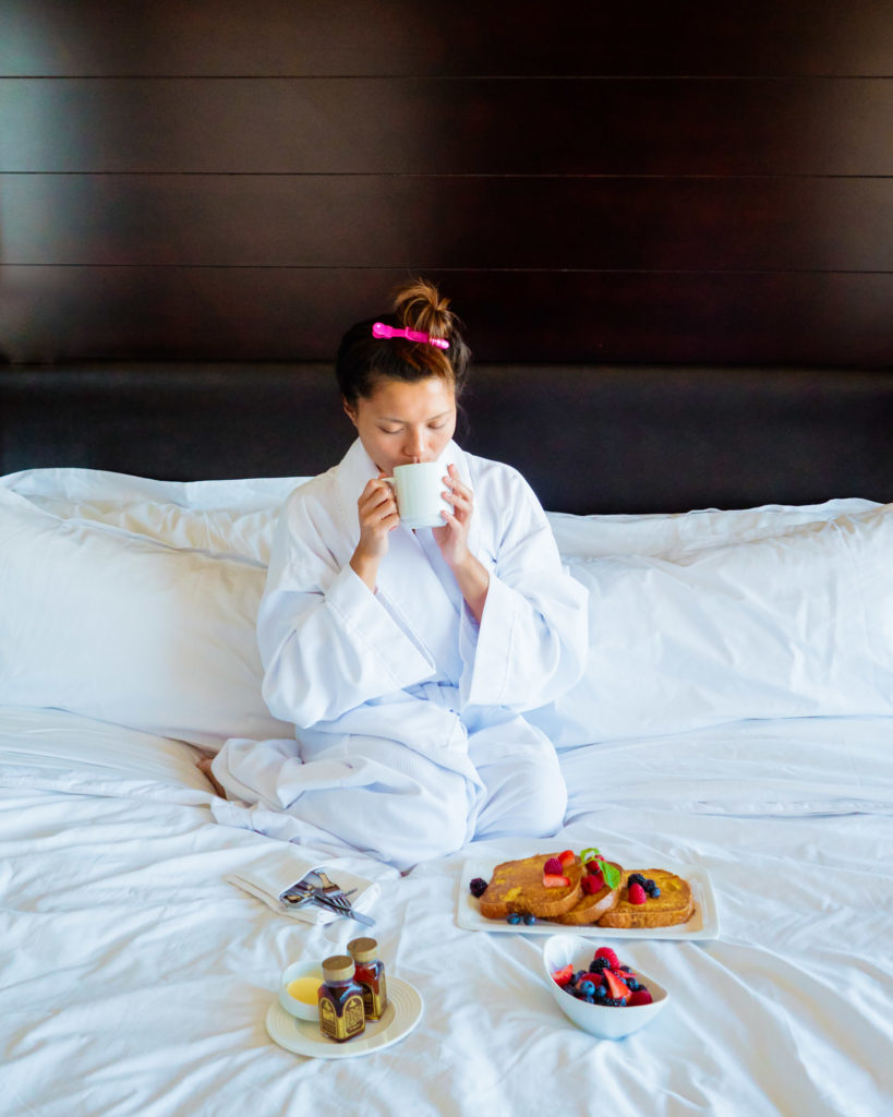 Vdara Room Service | Instagram-Worthy Photos You'll Want to Take in Las Vegas w/ Captions | TravelingPetiteGirl.com | #lasvegas #instagram #travel #photography