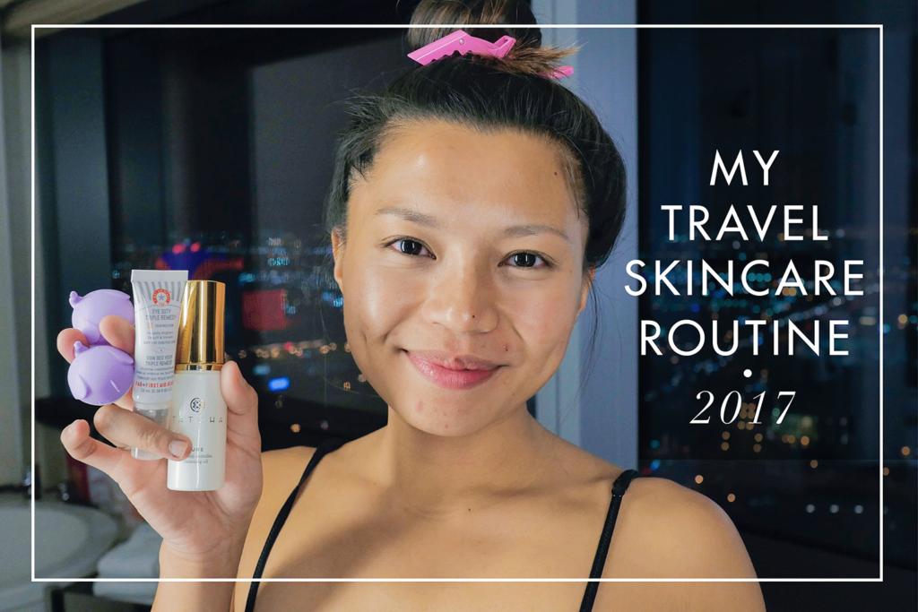 My Travel Skincare Routine 2017 | TravelingPetiteGirl.com | #skincare #travel #beauty
