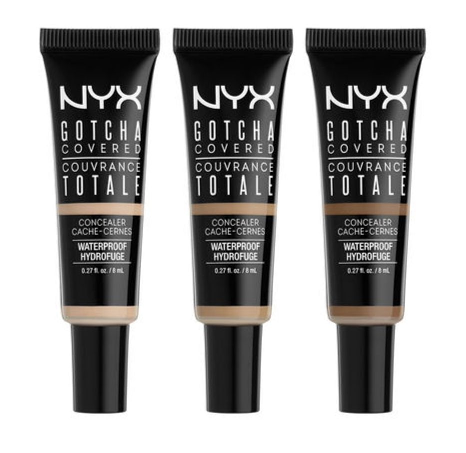 NYX Gotcha Covered Concealer | Quick & Easy Makeup For Travel In 10 Minutes | TravelingPetiteGirl.com | #makeup #travel #easy #quick