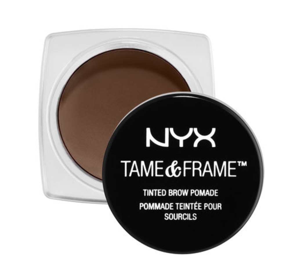 NYX Tame Frame Brow Pomade | Quick & Easy Makeup For Travel In 10 Minutes | TravelingPetiteGirl.com | #makeup #travel #easy #quick