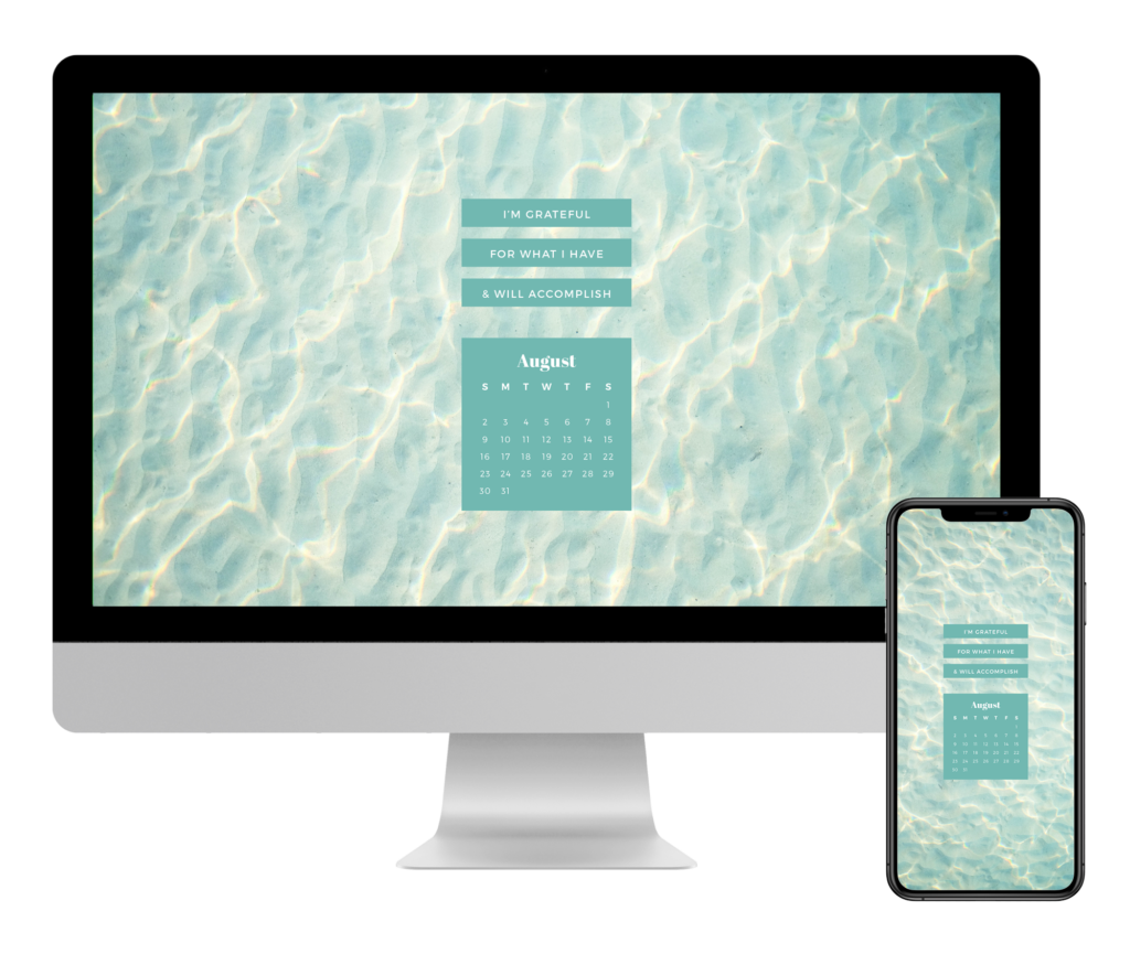 Free August 2020 Calendar Desktop Mobile Wallpaper Traveling Petite Girl